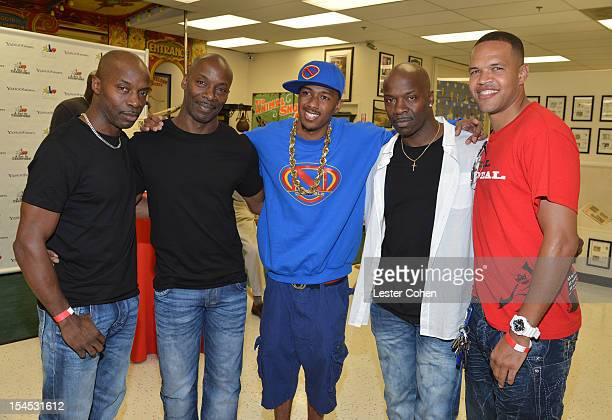 TV personality Nick Cannon karate athlete Raymond The Real Daniels and the Weaver brothers attend Bogart Pediatric Cancer Research Program's A Day Of...