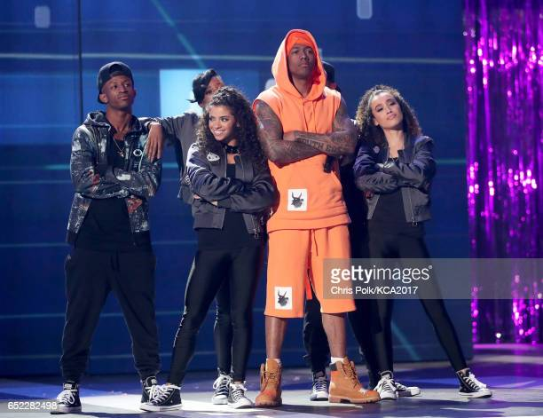 TV personality Nick Cannon performs onstage at Nickelodeon's 2017 Kids' Choice Awards at USC Galen Center on March 11 2017 in Los Angeles California