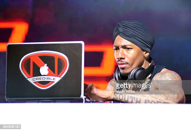 TV personality Nick Cannon performs onstage during the 2016 MAXIM Hot 100 Party at the Hollywood Palladium on July 30 2016 in Los Angeles California
