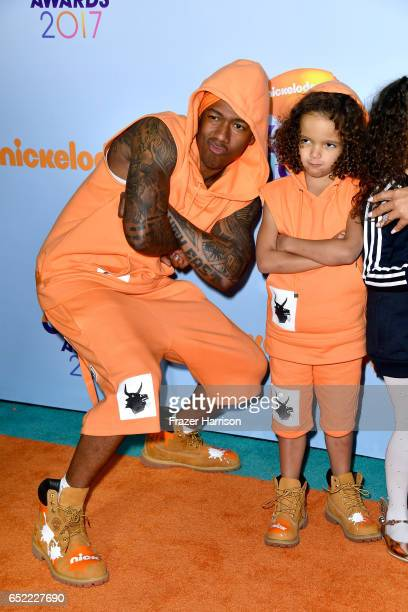 TV personality Nick Cannon with Moroccan Scott Cannon at Nickelodeon's 2017 Kids' Choice Awards at USC Galen Center on March 11 2017 in Los Angeles...