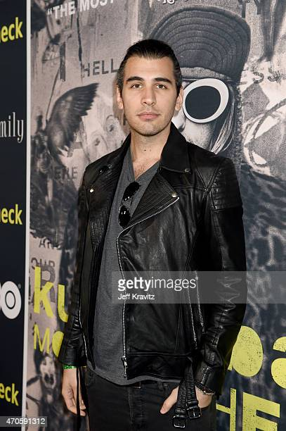 TV personality Nick Simmons attends HBO's 'Kurt Cobain Montage Of Heck' Los Angeles Premiere at the Egyptian Theatre on April 21 2015 in Hollywood...