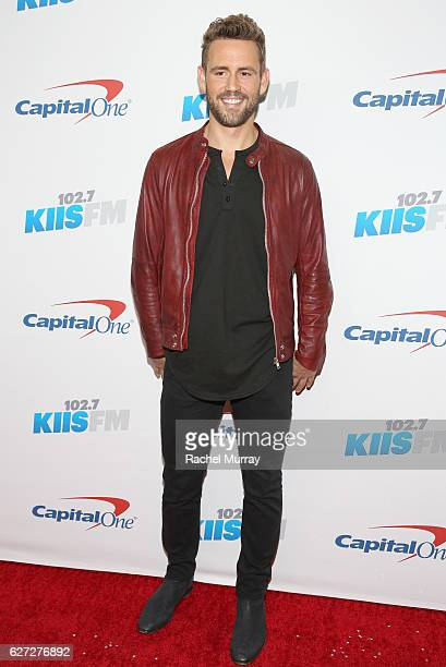 TV personality Nick Viall attends 1027 KIIS FM's Jingle Ball 2016 presented by Capital One at Staples Center on December 2 2016 in Los Angeles...