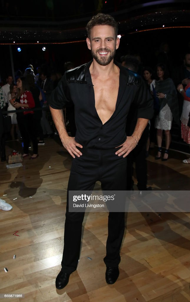 TV personality Nick Viall attends 'Dancing with the Stars' Season 24 premiere at CBS Televison City on March 20, 2017 in Los Angeles, California.