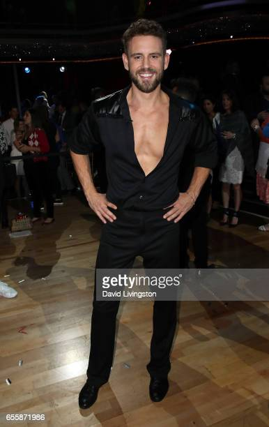 TV personality Nick Viall attends 'Dancing with the Stars' Season 24 premiere at CBS Televison City on March 20 2017 in Los Angeles California