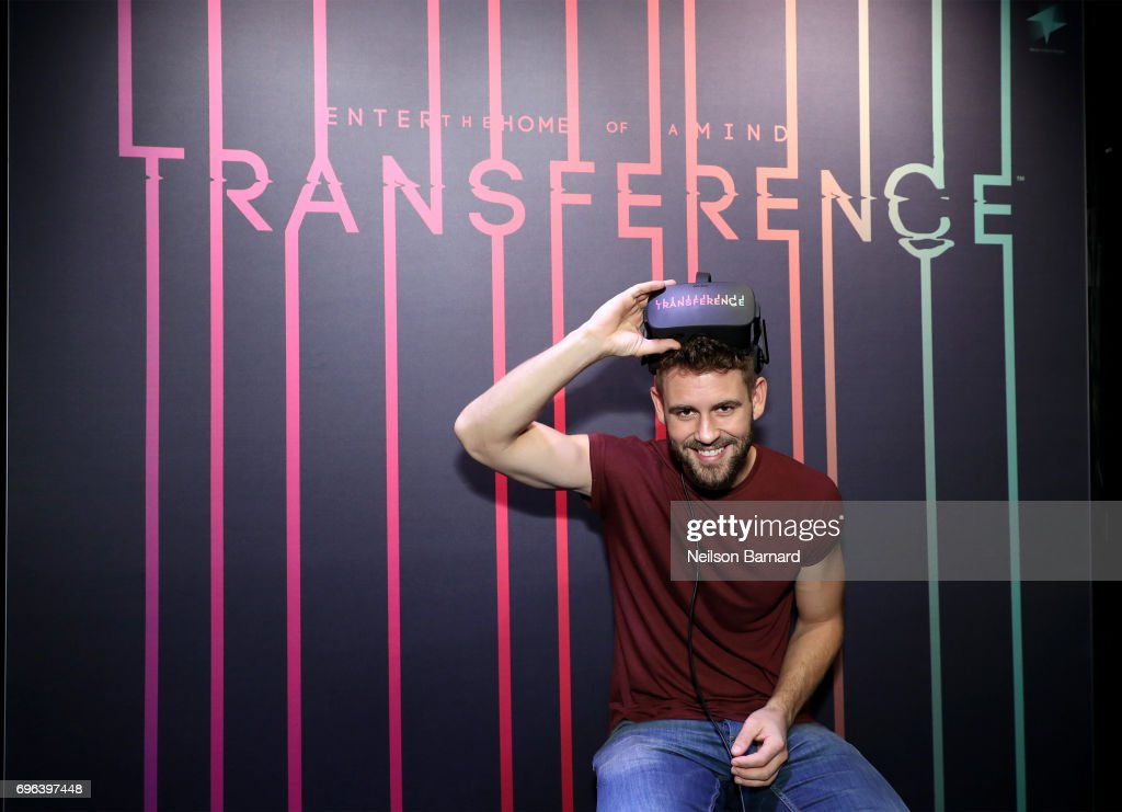 TV personality Nick Viall plays Transference during E3 2017 at Los Angeles Convention Center on June 15, 2017 in Los Angeles, California.