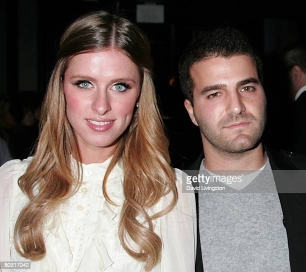 TV personality Nicky Hilton and producer David Katzenberg attend the Prada Los Angeles screening of 'Trembled Blossoms' at Prada Beverly Hills...