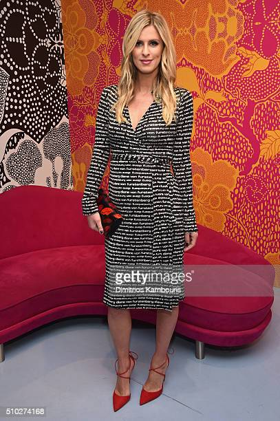 Personality Nicky Hilton is seen wearing Diane Von Furstenberg Fall 2016 during New York Fashion Week on February 14 2016 in New York City