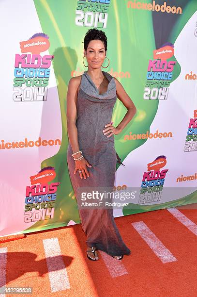 TV personality Nicole Mitchell Murphy attends Nickelodeon Kids' Choice Sports Awards 2014 at UCLA's Pauley Pavilion on July 17 2014 in Los Angeles...