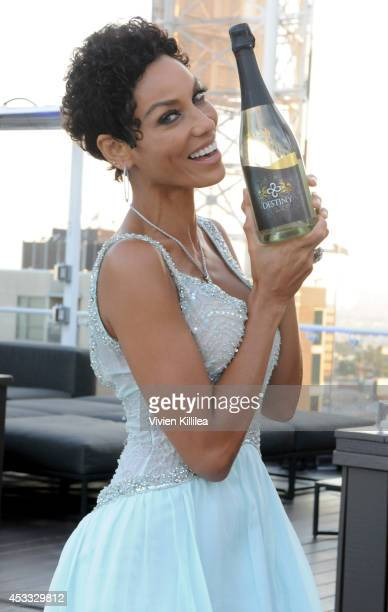 TV personality Nicole Murphy attends The Pump Group VIP Cocktail Reception at W Hollywood on August 7 2014 in Hollywood California