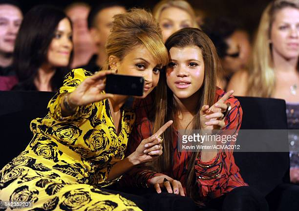 Personality Nicole Richie and Sofia Richie attend the Lionel Richie and Friends in Concert presented by ACM held at the MGM Grand Garden Arena on...