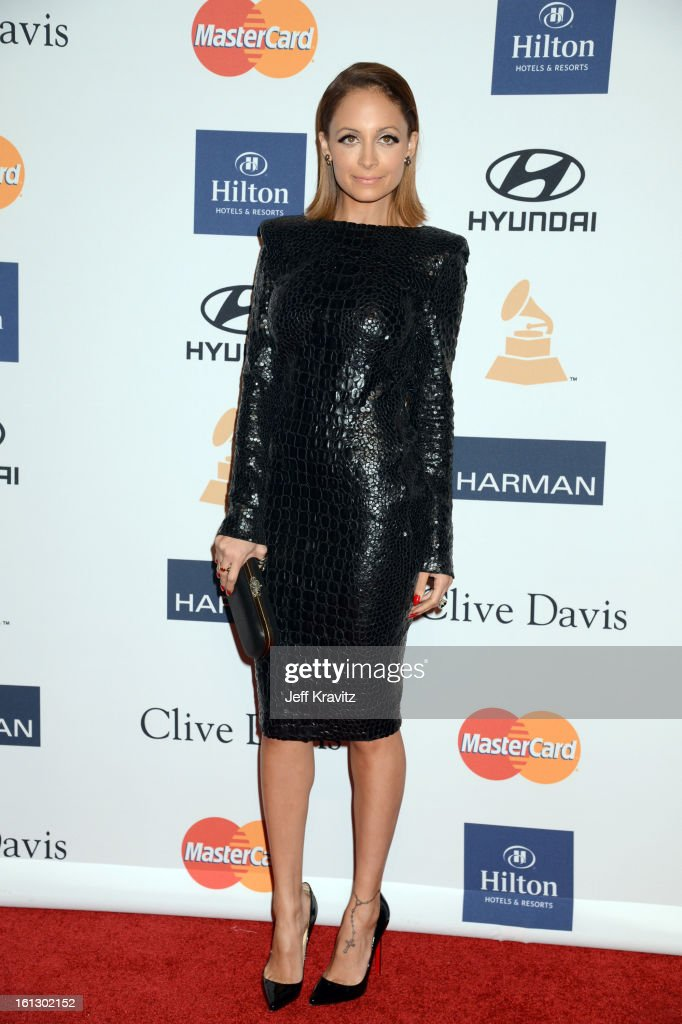 TV personality Nicole Richie arrives at Clive Davis and The Recording Academy's 2013 GRAMMY Salute to Industry Icons Gala held at The Beverly Hilton Hotel on February 9, 2013 in Beverly Hills, California.