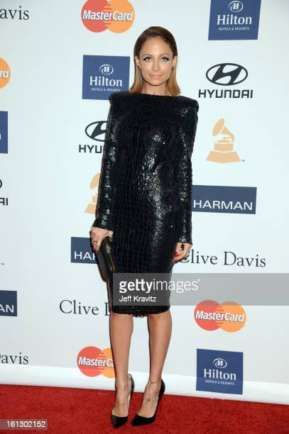 TV personality Nicole Richie arrives at Clive Davis and The Recording Academy's 2013 GRAMMY Salute to Industry Icons Gala held at The Beverly Hilton...