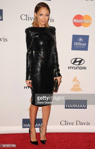 TV personality Nicole Richie arrives at the 55th Annual GRAMMY Awards PreGRAMMY Gala and Salute to Industry Icons honoring LA Reid held at The...