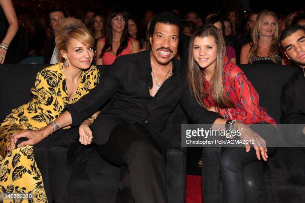 Personality Nicole Richie, singer Lionel Richie and Sofia Richie attend Lionel Richie and Friends in Concert presented by ACM held at the MGM Grand...