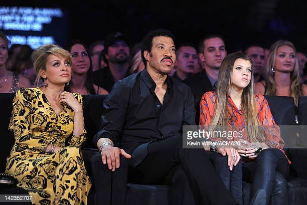 Personality Nicole Richie, singer Lionel Richie and Sofia Richie attend the Lionel Richie and Friends in Concert presented by ACM held at the MGM...