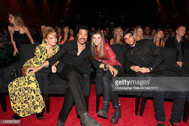 Personality Nicole Richie, singer Lionel Richie, Sofia Richie and Miles Richie attend Lionel Richie and Friends in Concert presented by ACM held at...