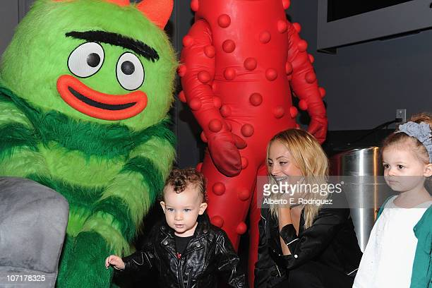 TV personality Nicole Richie son Sparrow Madden and daughter Harlow Madden attend Yo Gabba Gabba Live There's A Party In My City at Nokia LA Live on...