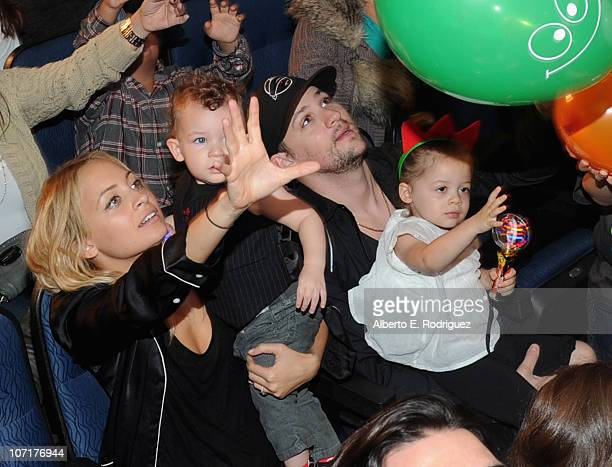 TV personality Nicole Richie son Sparrow Madden musician Joel Madden and daughter Harlow Madden attend Yo Gabba Gabba Live There's A Party In My City...