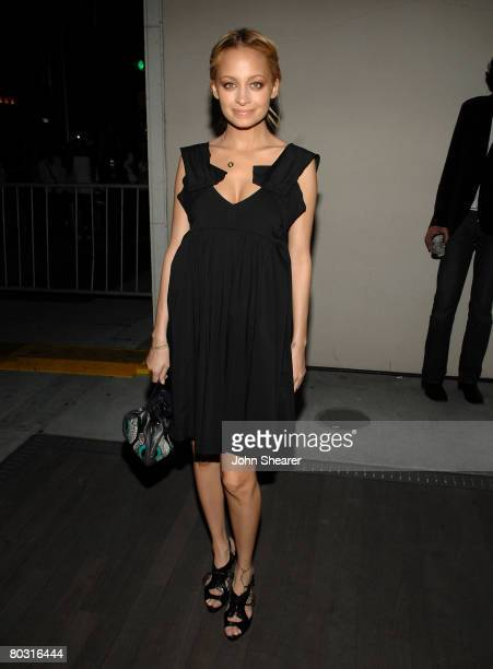 TV personality Nicole Richie wearing Miu Miu attends the Los Angeles screening of Trembled Blossoms presented by Prada on March 19 2008 in Beverly...