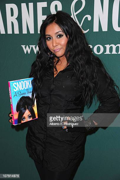 TV personality Nicole 'Snooki' Polizzi attends a book signing at Barnes Noble at the Grove to promote her new book 'A Shore Thing' on January 6 2011...