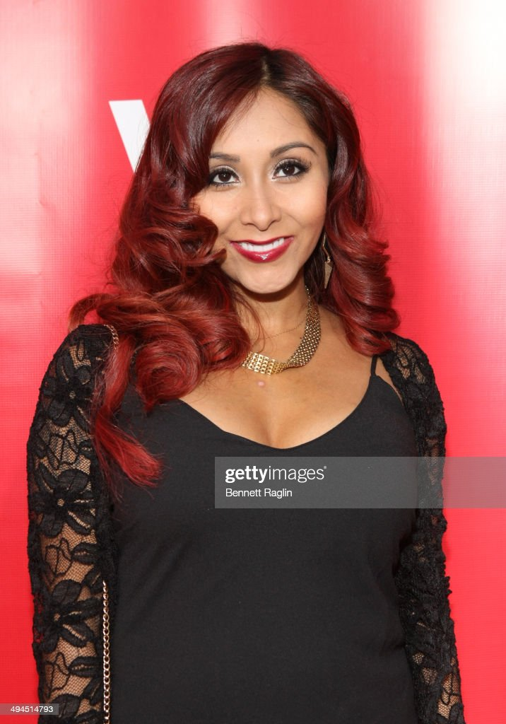 TV personality Nicole 'Snooki' Polizzi attends the 'Marriage Boot Camp: Reality Stars' event at Catch Rooftop on May 29, 2014 in New York City.