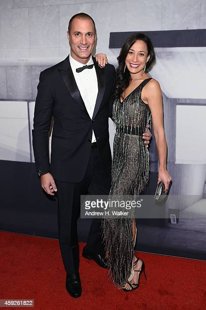 TV personality Nigel Barker and Cristen Barker attend the 2014 Whitney Gala presented by Louis Vuitton at The Breuer Building on November 19 2014 in...