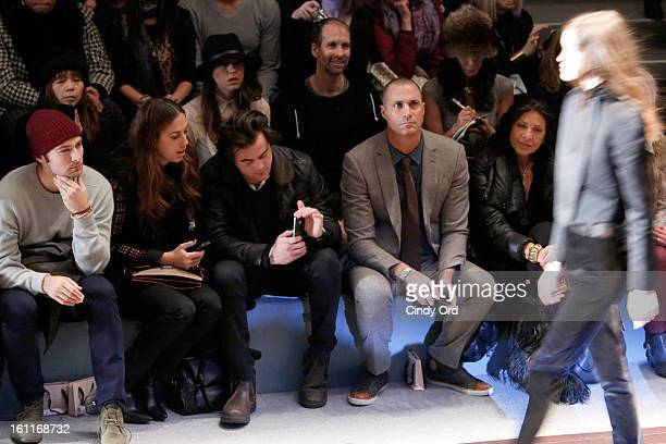 Personality Nigel Barker attends the Jill Stuart Fall 2013 fashion show during MercedesBenz Fashion Week at The Stage at Lincoln Center on February 9...