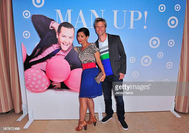 TV personality Nikki Boyer and Tommy Fields at Roast and Toast with Ross Mathews hosted by Target to celebrate the launch of Mathews' book Man Up at...