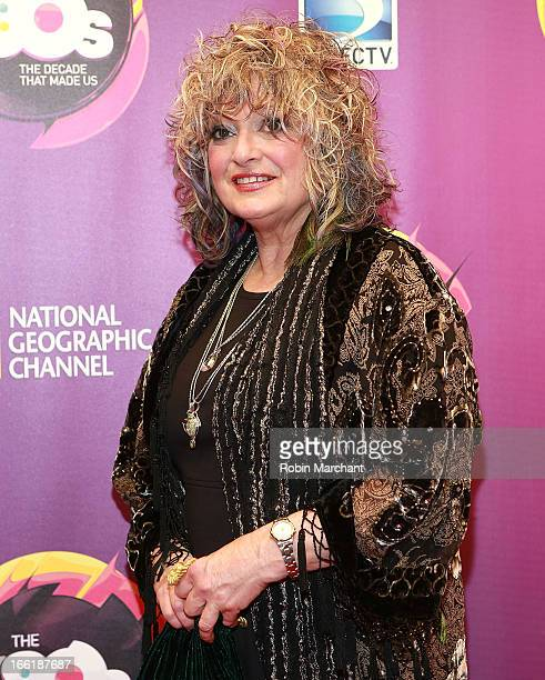 TV personality Nina Blackwood attends Nat Geo's The 80's The Decade That Made Us New York Premiere at Culture Club on April 9 2013 in New York City