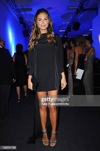 TV personality Nina Senicar attends amfAR MILANO 2011 at La Permanente on September 23 2011 in Milan Italy