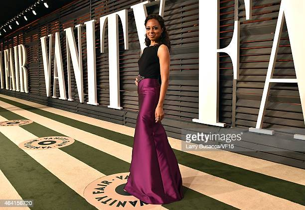 TV personality Nischelle Turner attends the 2015 Vanity Fair Oscar Party hosted by Graydon Carter at the Wallis Annenberg Center for the Performing...