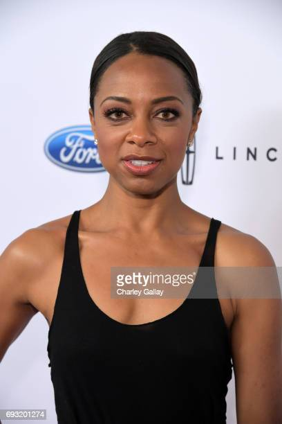 TV personality Nischelle Turner attends the 42nd Annual Gracie Awards Gala hosted by The Alliance for Women in Media at the Beverly Wilshire Hotel on...