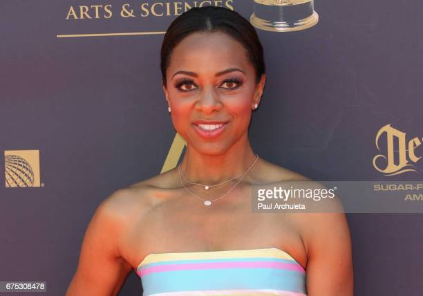 Personality Nischelle Turner attends the 44th annual Daytime Emmy Awards at Pasadena Civic Auditorium on April 30 2017 in Pasadena California