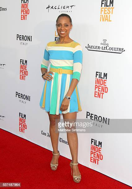 Personality Nischelle Turner attends the opening night premiere of 'Lowriders' during the 2016 LA Film Festival at ArcLight Cinemas on June 1, 2016...