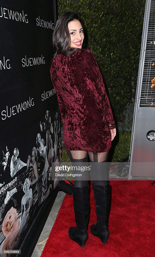 TV personality Olga Safari attends Sue Wong's holiday party at her home on December 20, 2013 in Los Angeles, California.