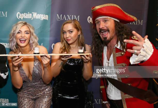 TV personality Olivia Caridi and actress Brandi Glenn Cyrus enjoy Captain Morgan LocoNut which triggered a $100 donation from the rum brand to...