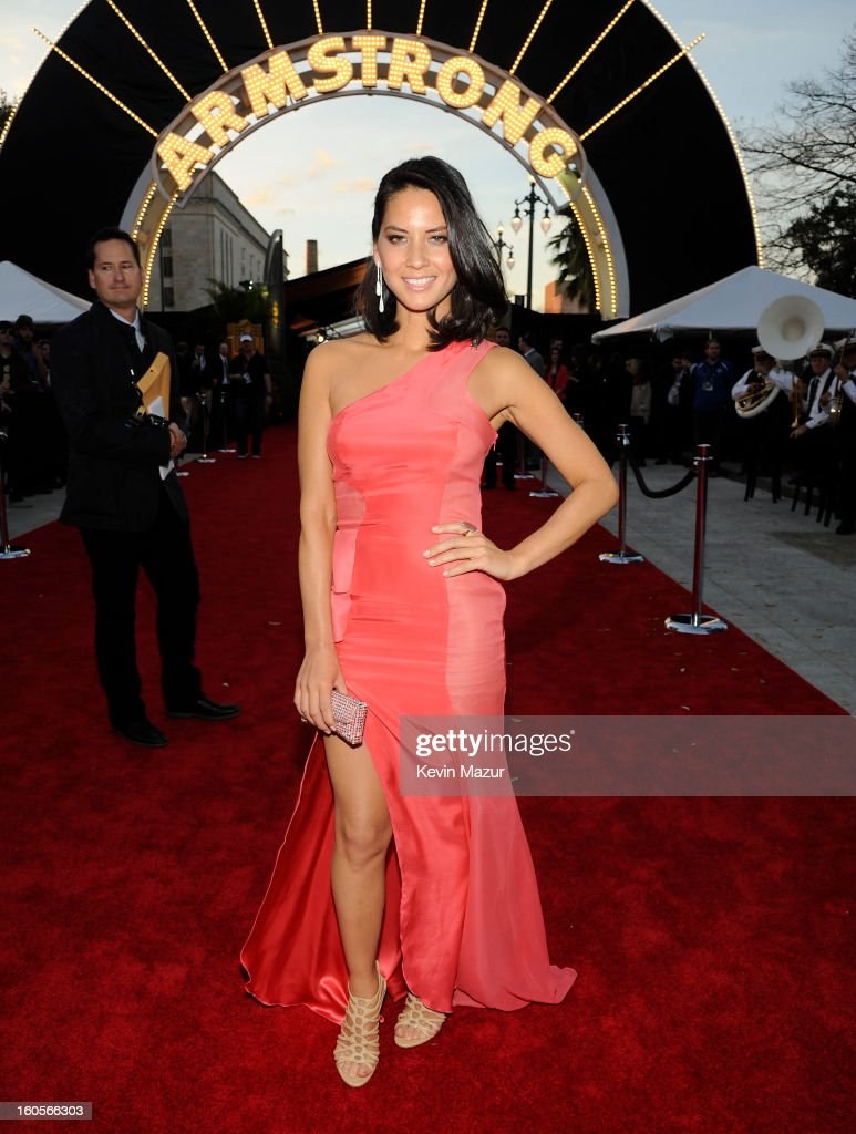 TV personality Olivia Munn attends the 2nd Annual NFL Honors at the Mahalia Jackson Theater on February 2, 2013 in New Orleans, Louisiana.