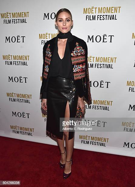 TV personality Olivia Palermo attends Moet Chandon Celebrates 25 Years at the Golden Globes on January 8 2016 in West Hollywood California