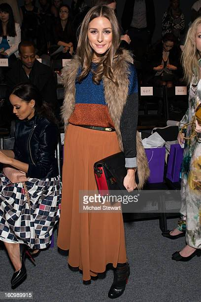 TV personality Olivia Palermo attends Noon By Noor Fall 2013 MercedesBenz Fashion Week at The Studio at Lincoln Center on February 8 2013 in New York...