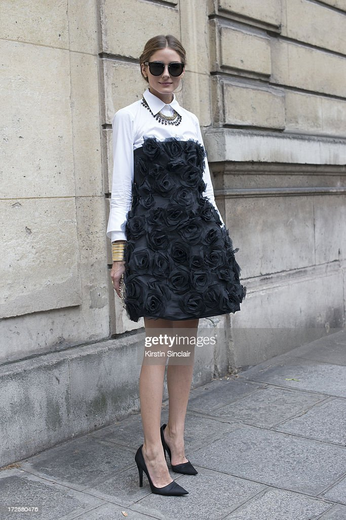 TV personality Olivia Palermo wears a Valentino dress on day 3 of Paris Collections: Womens Haute Couture on July 03, 2013 in Paris, France.
