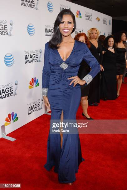 TV personality Omarosa Manigault arrives at the 44th NAACP Image Awards held at The Shrine Auditorium on February 1 2013 in Los Angeles California