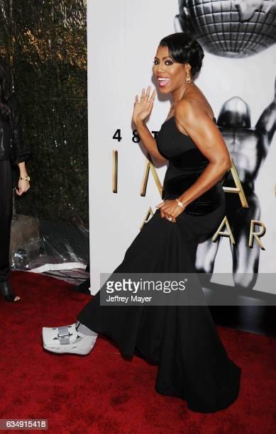 TV personality Omarosa Manigault arrives at the 48th NAACP Image Awards at Pasadena Civic Auditorium on February 11 2017 in Pasadena California