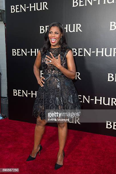 Personality Omarosa Manigault arrives at the premiere of Paramount Pictures' 'Ben Hur' at TCL Chinese Theatre IMAX on August 16 2016 in Hollywood...