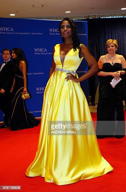 TV personality Omarosa Manigault arrives for the 102nd White House Correspondents' Association Dinner in Washington DC on April 30 2016 / AFP /...