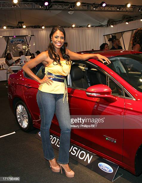 TV personality Omarosa Manigault attends Hot Spot Room Day 1 during the 2013 BET Awards at LA LIVE on June 28 2013 in Los Angeles California