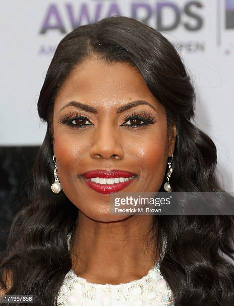 Personality Omarosa Manigault attends the 2013 BET Awards at Nokia Theatre LA Live on June 30 2013 in Los Angeles California