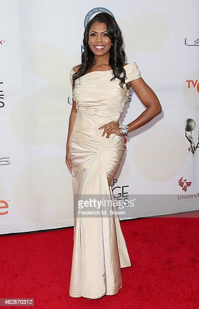 TV personality Omarosa Manigault attends the 46th NAACP Image Awards presented by TV One at Pasadena Civic Auditorium on February 6 2015 in Pasadena...
