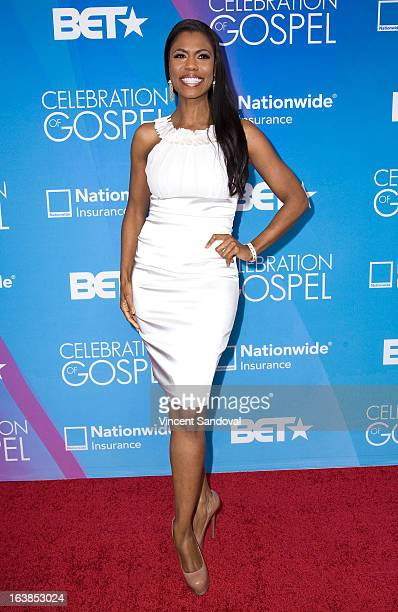 TV personality Omarosa Manigault attends the BET 13th annual 'Celebration Of Gospel' at Orpheum Theatre on March 16 2013 in Los Angeles California