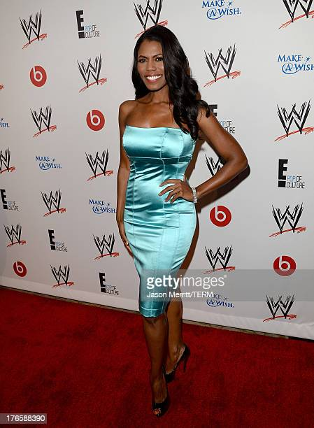 TV personality Omarosa Manigault attends WWE E Entertainment's 'SuperStars For Hope' at the Beverly Hills Hotel on August 15 2013 in Beverly Hills...