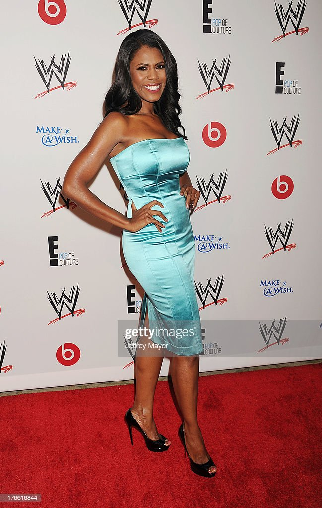 TV personality Omarosa Manigault Stallworth attends WWE & E! Entertainment's 'SuperStars For Hope' at the Beverly Hills Hotel on August 15, 2013 in Beverly Hills, California.
